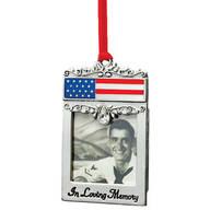 Patriotic Pewter Memorial Frame Ornament