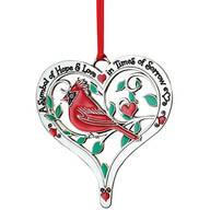 Pewter Cardinal Memorial Ornament