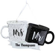 Personalized Mr. and Mrs. Coffee Mugs Ornament