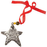 Pewter Christmas in Heaven Ornament