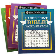Brain Games™ Large Print Bible Word Search Books, Set of 4