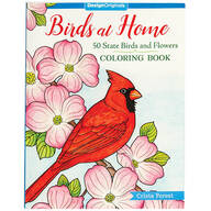 Birds at Home: 50 State Birds & Flowers Coloring Book