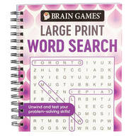 Brain Games® Swirls Design Large Print Word Search Puzzles