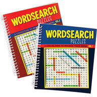 Wordsearch Puzzle Spiral Books, Vol. 1 and 2, Set of 2