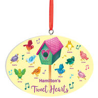 Personalized Tweet Hearts Ornament