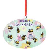 Personalized Beautiful Bees Ornament