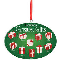 Personalized Greatest Gifts Ornament