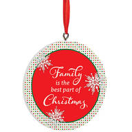Personalized Polka Dot Family Christmas Ornament