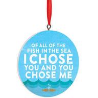 Personalized Fish in the Sea Ornament