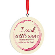 Personalized I Cook With Wine Ornament