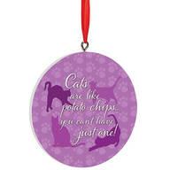 Personalized Cat Potato Chip Ornament