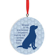 Personalized Dog Life Goals Ornament