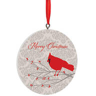 Personalized Merry Christmas Cardinal Ornament
