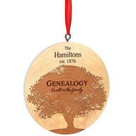 Personalized Genealogy Ornament