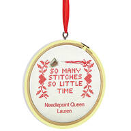 Personalized So Many Stitches Ornament