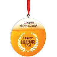 Personalized Beer Brewing Ornament