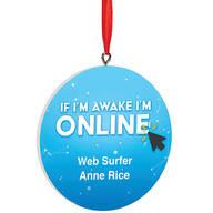 Personalized Web Surfer Ornament