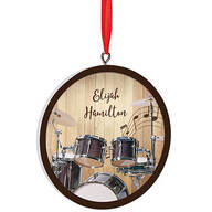 Personalized Drummer Ornament