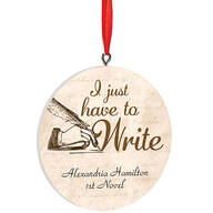 Personalized Writer Ornament