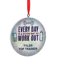 Personalized Work Out Ornament
