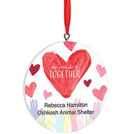 """Personalized """"We Can Do It Together"""" Volunteer Ornament"""